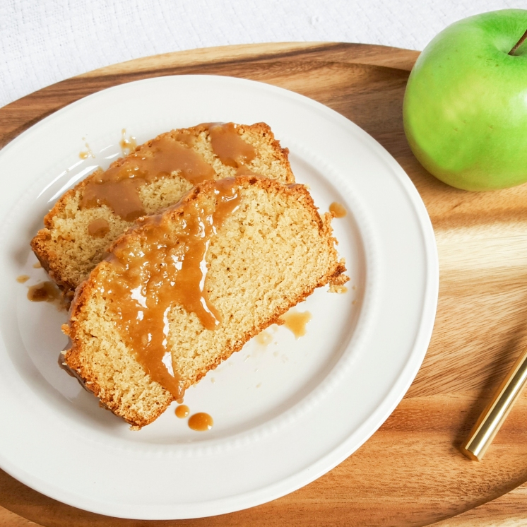 Apple Bread with Spiked Caramel Sauce