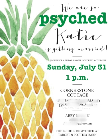 #Psych themed party or #bridalshower #ideas #faustbakes