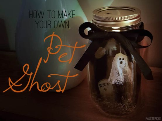 How to make a Pet Ghost with #FaustBakes