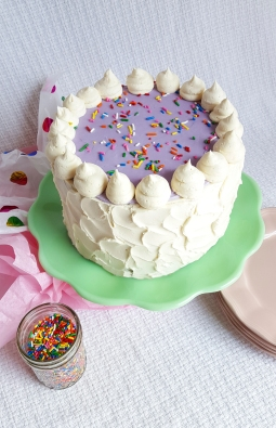 Sugar Cookie Inspired Cake