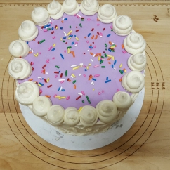 Sugar Cookie Inspired Cake